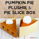 Pumpkin Pie Plushie and Pie Slice Box Pattern