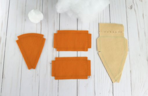 Pieces for the Pumpkin Pie Plushie