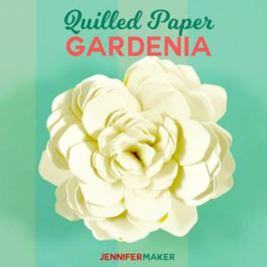 Quilled Paper Gardenia | Paper Flower SVG File and Pattern | #paperflowers #weddingflowers