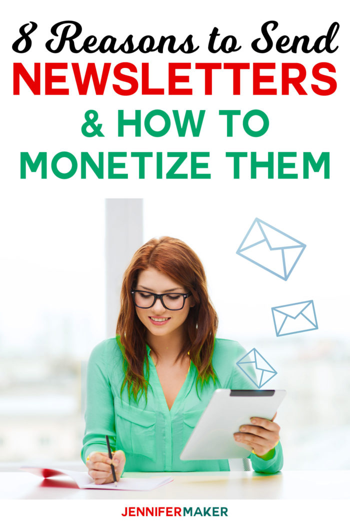 8 Reasons to Send Newsletter & How to Monetize Them #Blogging #Newsletters #marketing