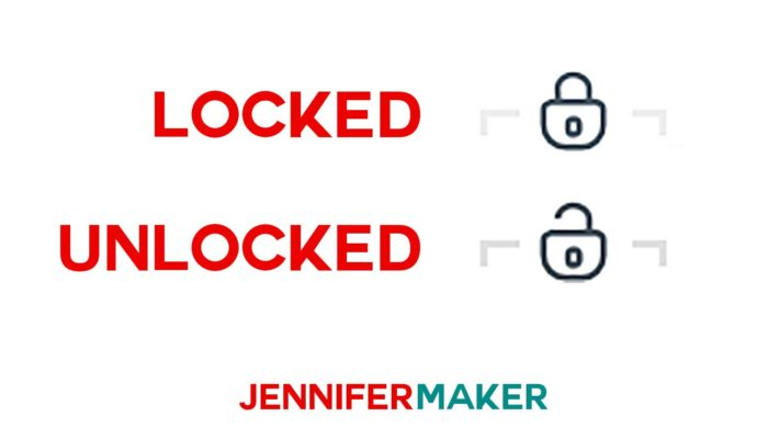 Locked vs unlocked in Cricut Design Space