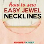 Sew easy round jewel necklines with the quick tutorial #sewing #tunics #sewingtips #neckline