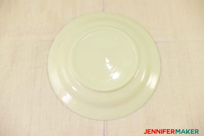 Put a salad plate on your fabric to to sew a round jewel neckline on a shirt or tunic