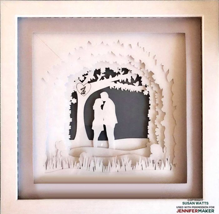Paper Art Shadow Box made by Susan W.