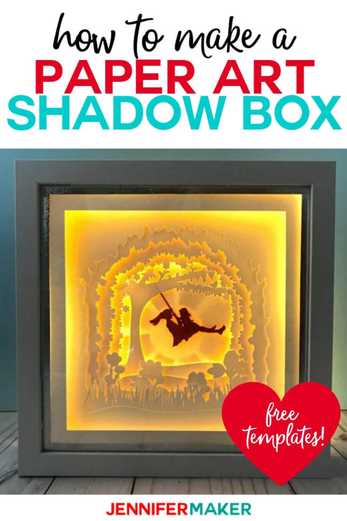 Learn how to make a beautiful picture using just layers of paper with my step-by-step tutorial! This shadow box paper art template makes for a stunning conversation piece or gift! #cricut #cricutmade #cricutmaker #cricutexplore #svg #svgfile