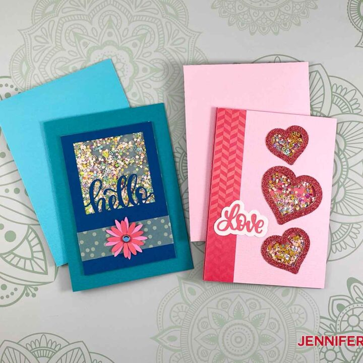 Learn how to make these shaker cards