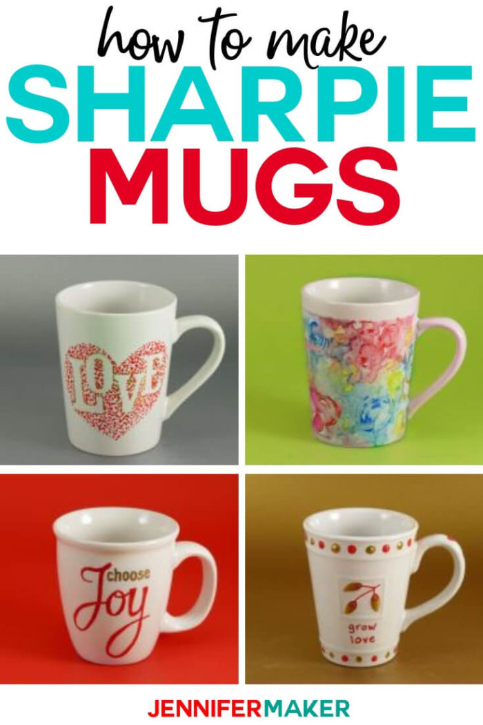 DIY Sharpie Mugs are a quick and easy craft you can make when you need a homemade gift. #diy #tutorial #craftprojects