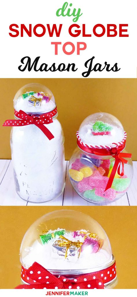 Snow Globe Top Mason Jar Tutorial | How to Make Mason Jar Gift | DIY Christmas Gift | Easy Affordable Holiday Present | Gifts in a Jar