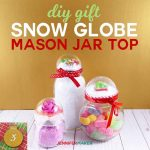 Snow Globe Top Mason Jars + Rose Gold Glitter Globe Jars | How to Make | Mason Jar Ideas | DIY Gift Ideas | Christmas Gift in a Jar