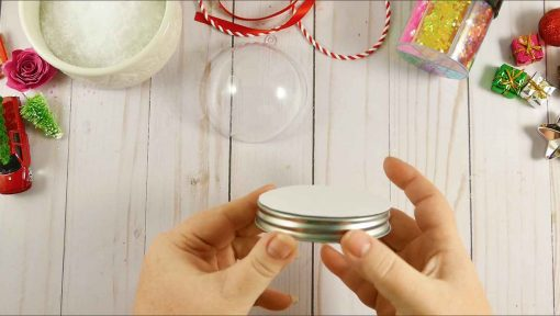 Glue the paper to the lid of your Mason jar