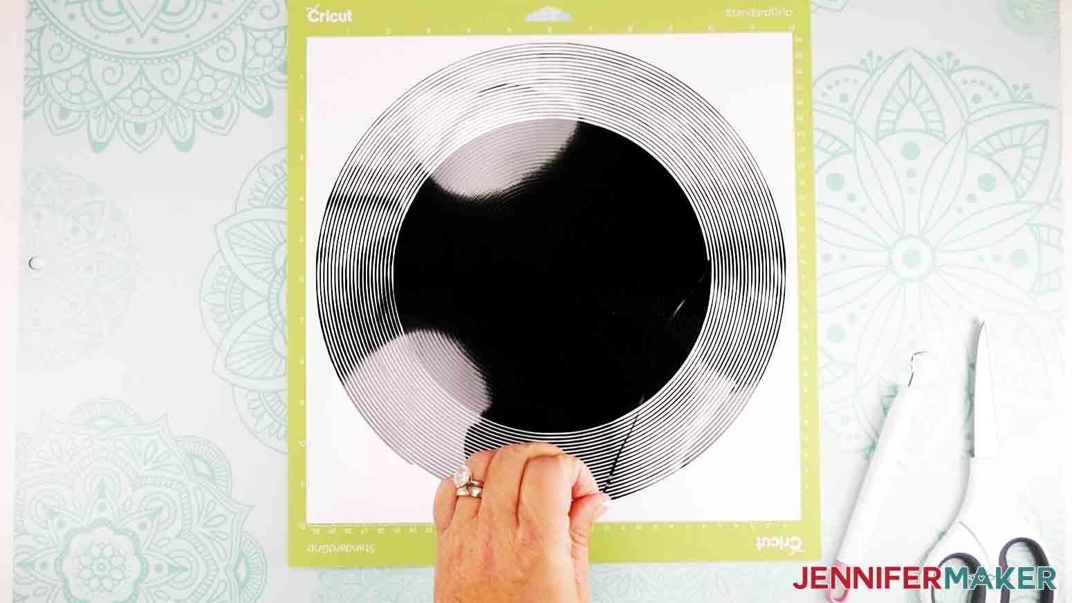 pulling up vinyl on spiral