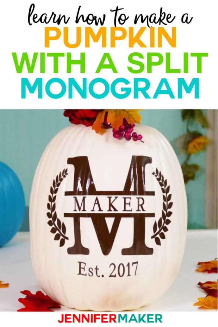 Learn how to make a simple and stylish split monogram in Cricut Design Space the fast and easy way!  #cricut #cricutmade #cricutmaker #cricutexplore #svg #svgfile