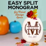 Cricut Split Monogram Tutorial + Free SVG!