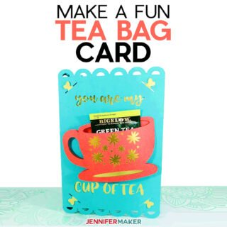 Tea Bag Card SVG cut file and tutorial - holds a tea bag inside a tea cup #cricut #cardmaking #papercraft