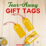 DIY Tear-Away Gift Tag to keep anyone from peeking! | Christmas present tags SVG cut files for Cricut | reveal tags