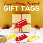 DIY Tear-Away Reveal Gift Tag to keep anyone from peeking! | Christmas present tags SVG cut files for Cricut | reveal tags