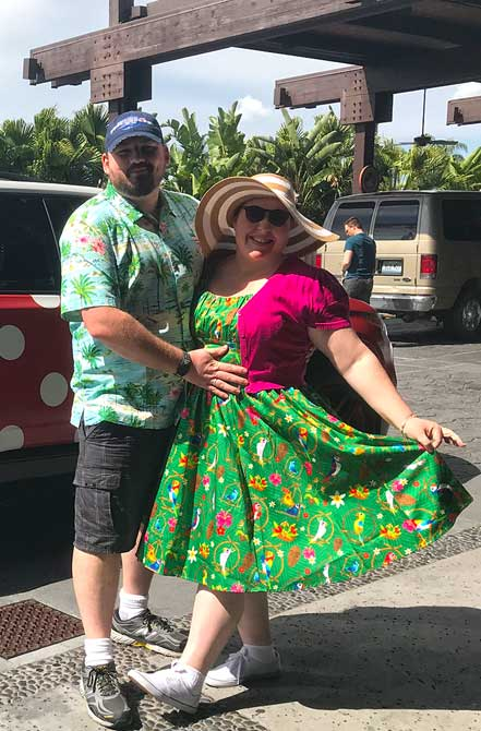 Tiki Room Dress at Polynesian Resort
