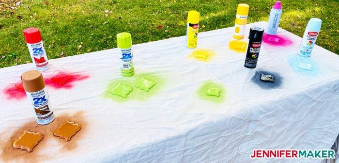 Personalized Tile Ornament Spray Paint Test
