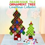 Tile Ornament Tree Countdown Calendar for Christmas - Free Pattern and SVG Cut Files for Two Sizes! #cricut #glowforge #christmas