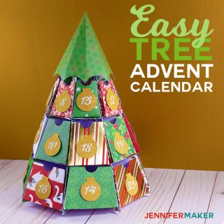 Easy Tree Advent Calendar | Papercraft Christmas Holiday Project \ Free SVG Files |