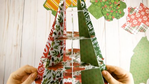 The assembled structure of the Christmas Tree Advent Calendar