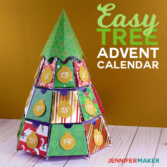 d6e9ed6f Easy Tree Advent Calendar | Papercraft Christmas Holiday Project ...