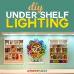 How to install DIY under shelf lighting cheap and easy! #lighting #diy #homedecor