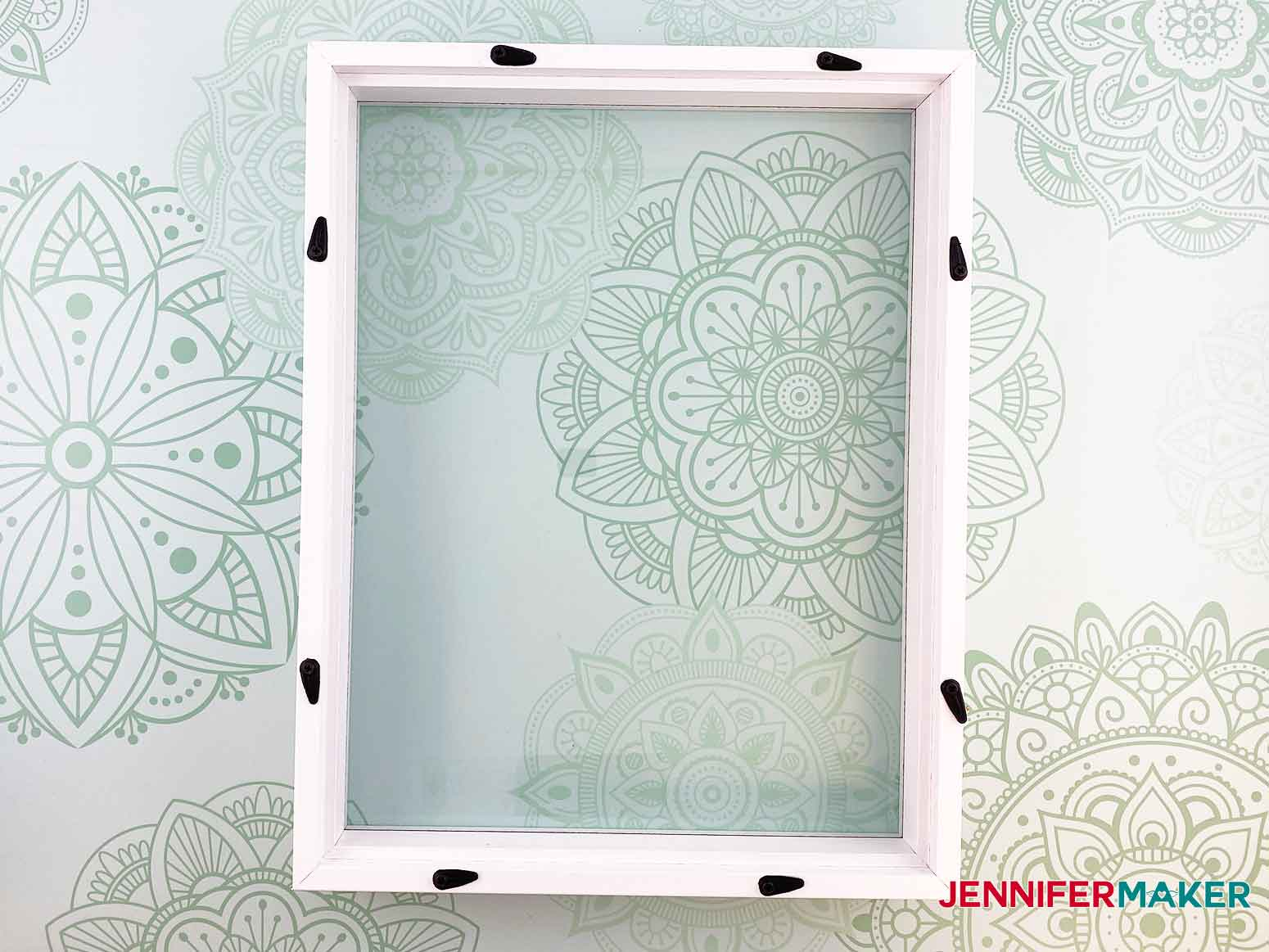 Clean the glass of your frame for the personalized unicorn frame