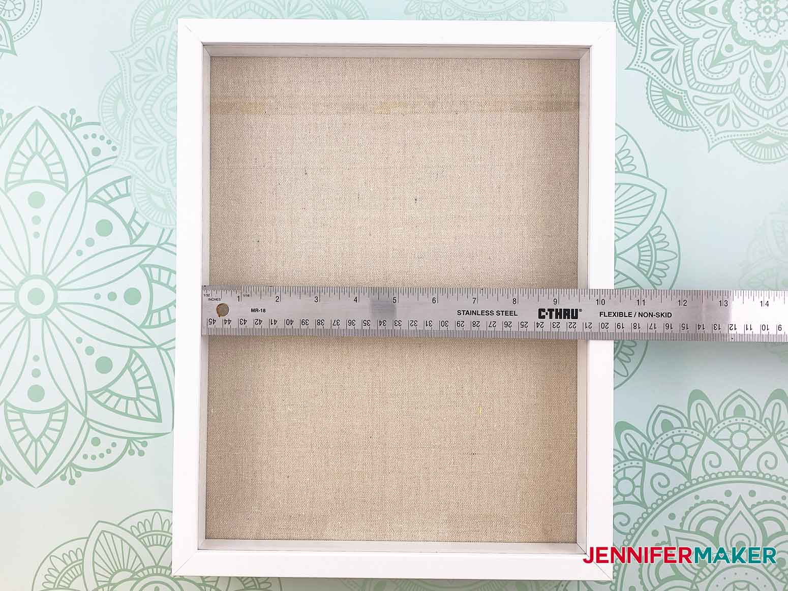 Measure the width and height of the frame for my personalized unicorn frame