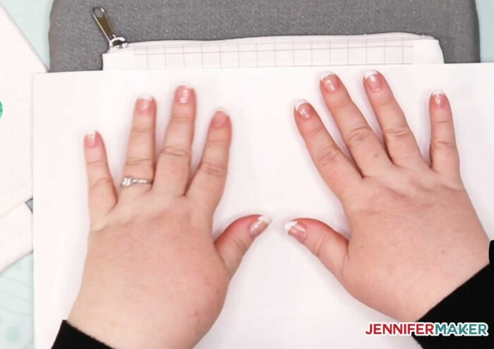 Be sure to cover your Infusible Ink design with butcher paper before pressing