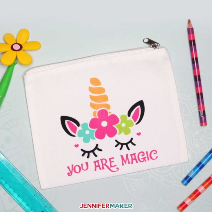 Easy Unicorn SVG Pouch made with Cricut Infusible Ink | Free SVG Cut File #cricut #infusibleink #unicorn