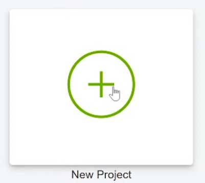 The New Project Button in Cricut Design Space for Uploading Images