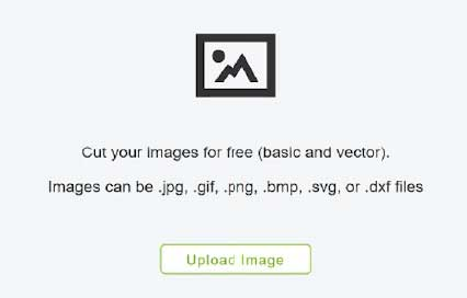The Upload Image button in Cricut Design Space for Uploading Images