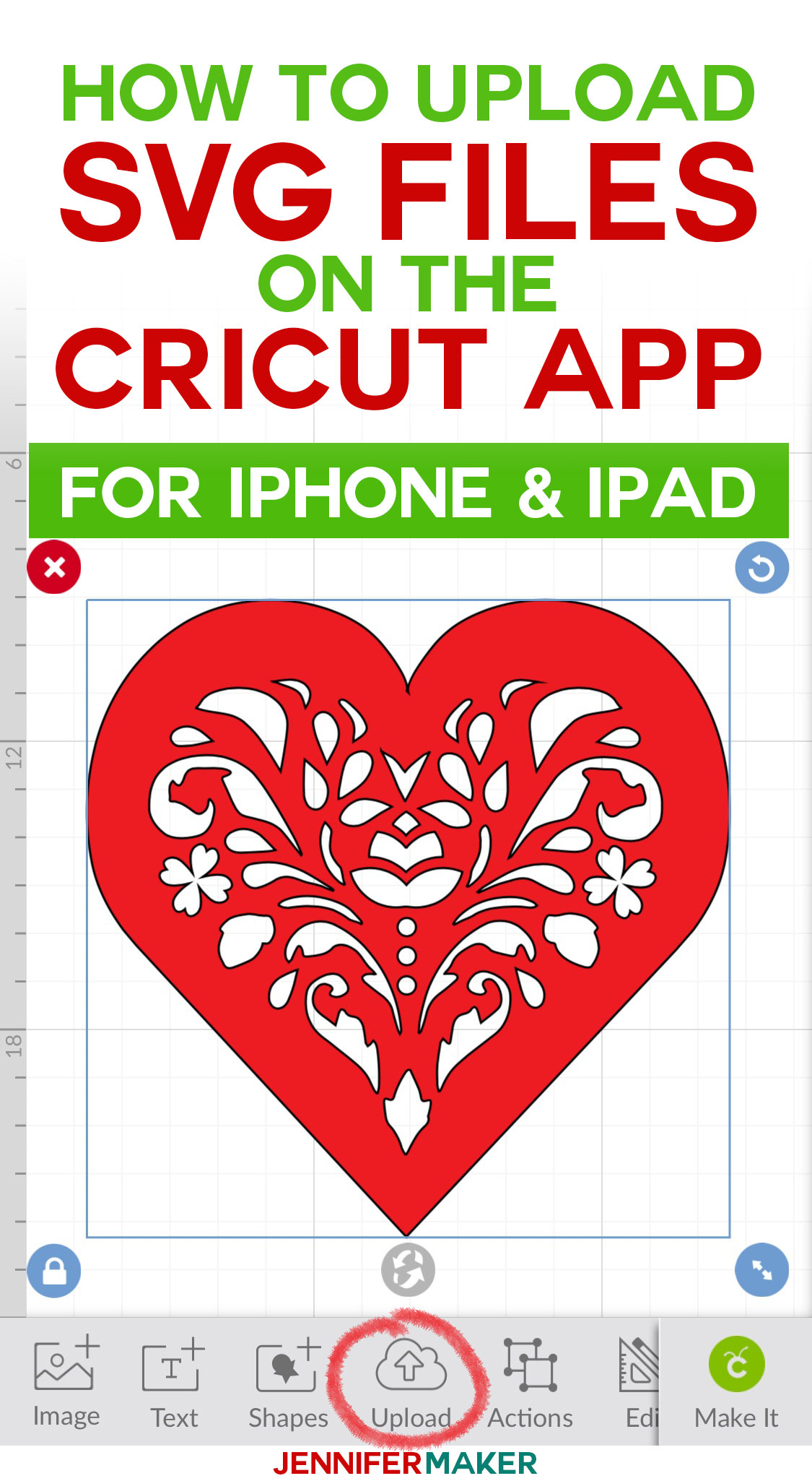 How to Upload SVG Files to Cricut Design Space on the iPhone and iPad | Save Images to Cricut App on Mobile  #cricut #svgfile #tutorial