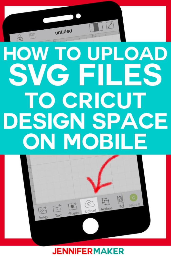Learn how to upload SVG files to Cricut Design Space app quickly and easily using your iPhone and iPad!  #cricut #cricutmade #cricutmaker #cricutexplore #svg #svgfile