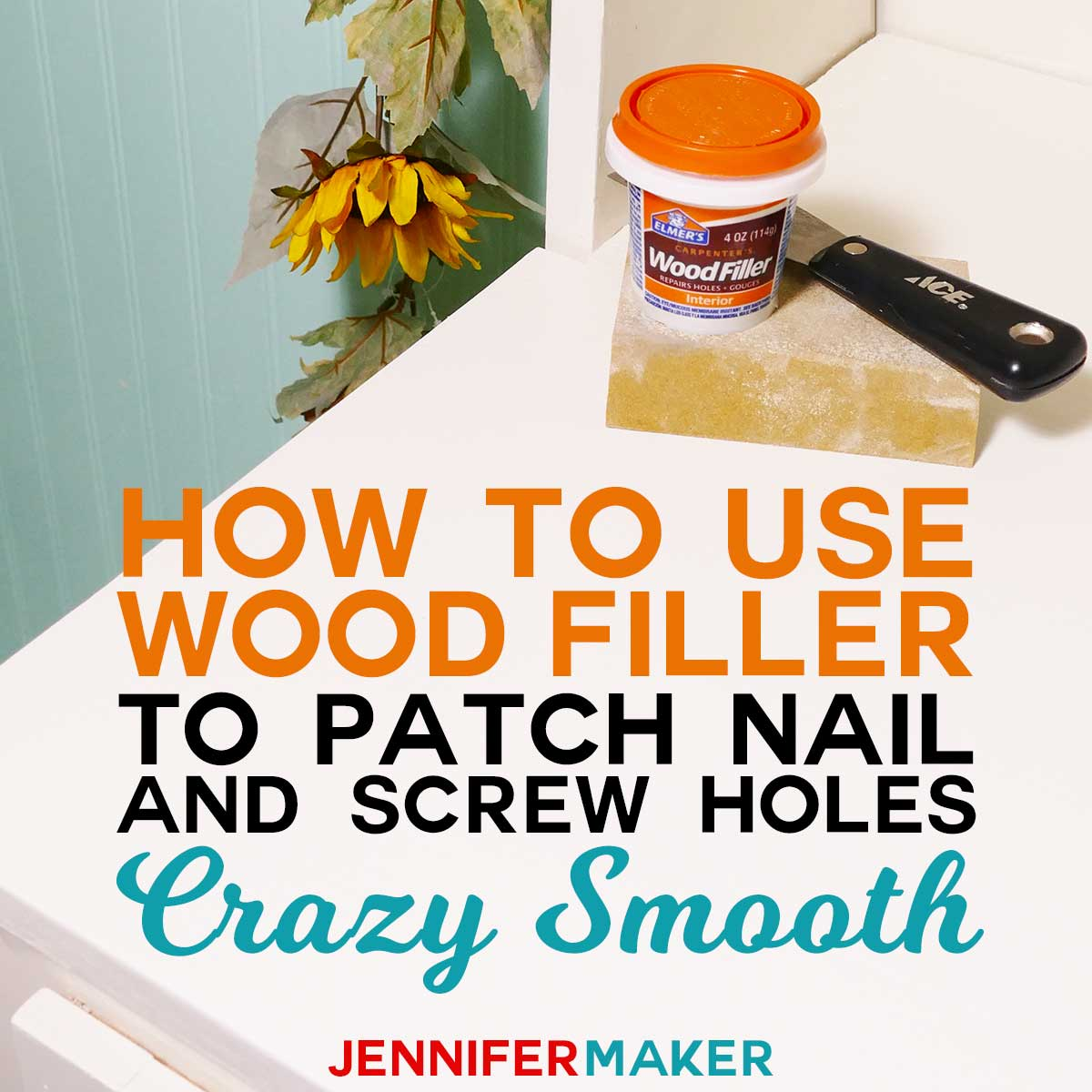 How to Use Wood Filler to Patch Nail and Screw Holes Crazy Smooth #woodworking #diy #homedecor