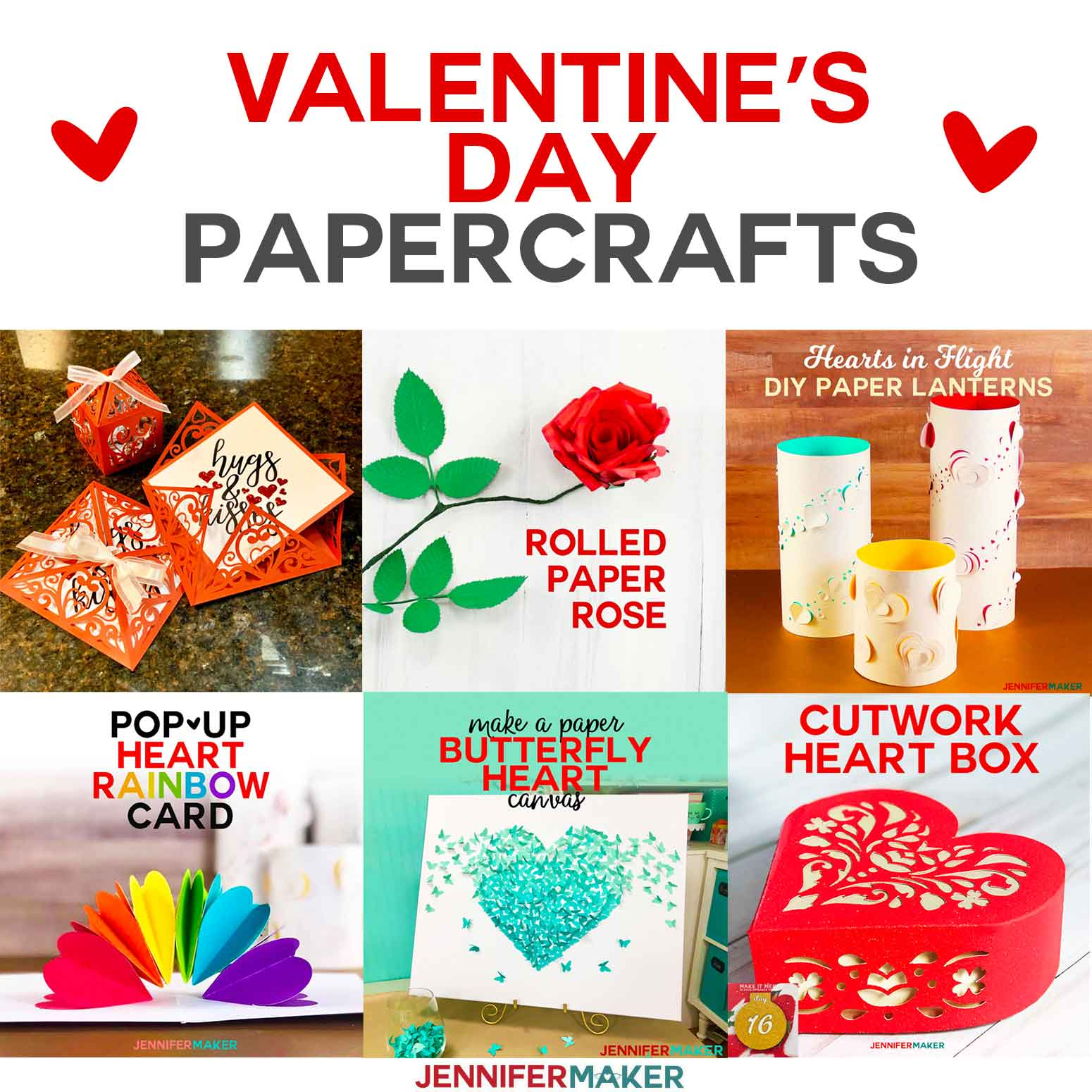 Valentine's Day Crafts from cards to paper flowers to lanterns