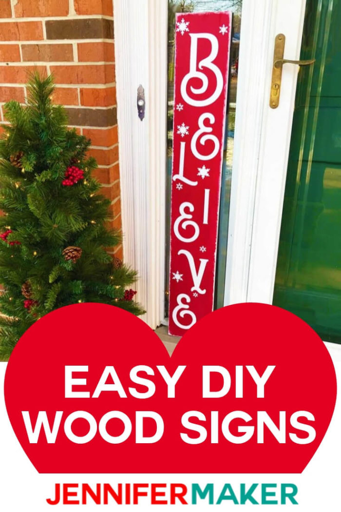 Learn how to make an eye-catching vertical welcome sign for your front porch with this easy step-by-step tutorial! #cricut #cricutmade #cricutmaker #cricutexplore #svg #svgfile