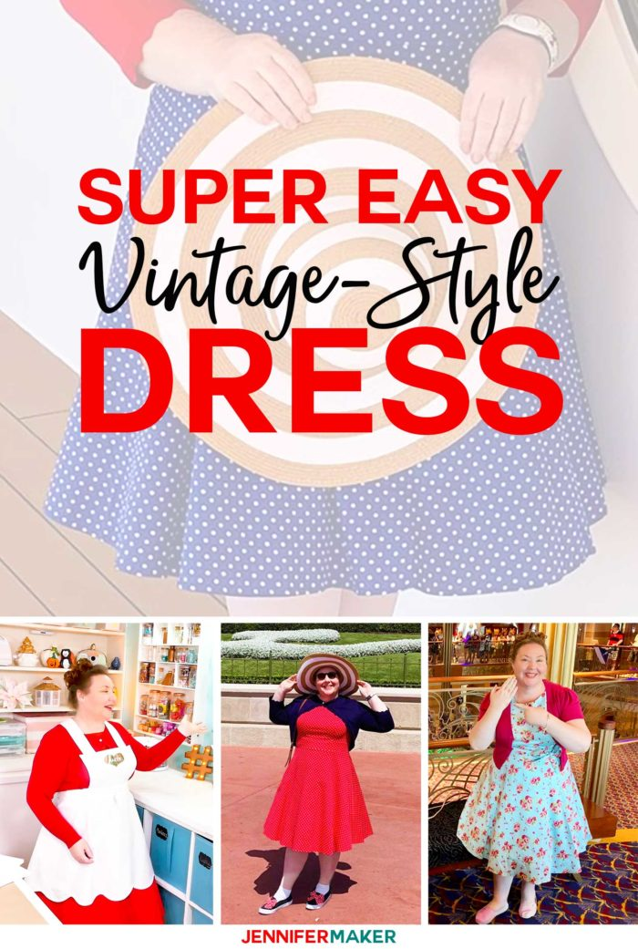 Super Easy Vintage Style Dress and Accessories #vintage #fashion #retro