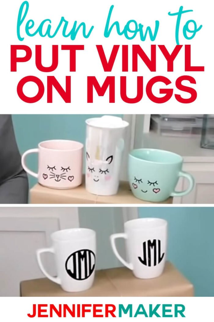 Learn the RIGHT way to put vinyl on mugs, including how to pick out the best mug, design, and vinyl for results that look great and last! #cricut #cricutmade #cricutmaker #cricutexplore #svg #vinylprojects