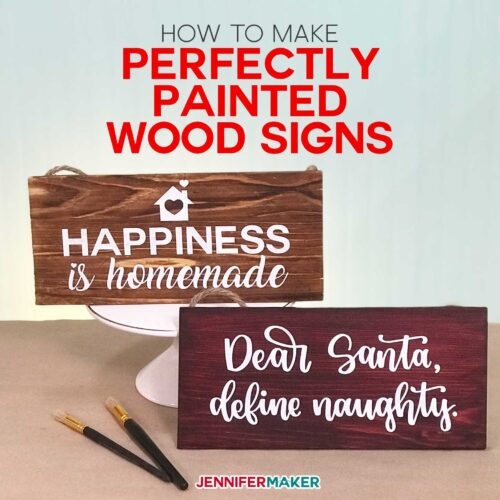 How to use Vinyl Stencils to Make Perfectly Painted Wood Signs with your Cricut using Mod Podge and the Pounce Method | diy home decor #cricut #woodsigns #stencils