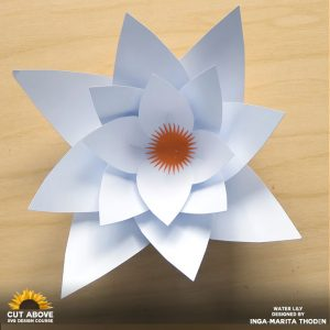 Paper Water Lily Designed by Inga Marita Thoden in the CUT ABOVE SVG Design Course at JenniferMaker.com