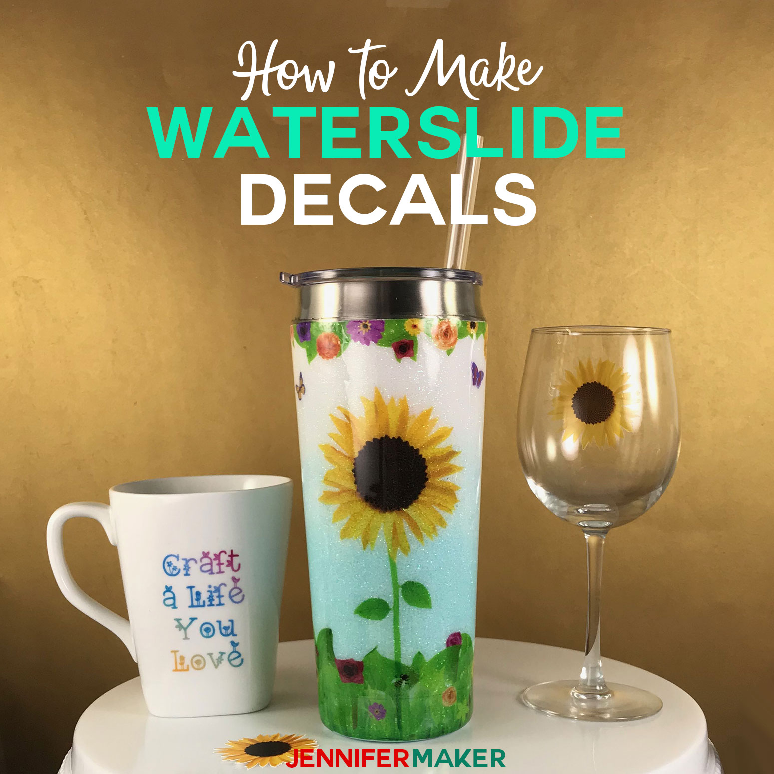 Waterslide Decal Tutorial Tumblers Mugs And Glasses
