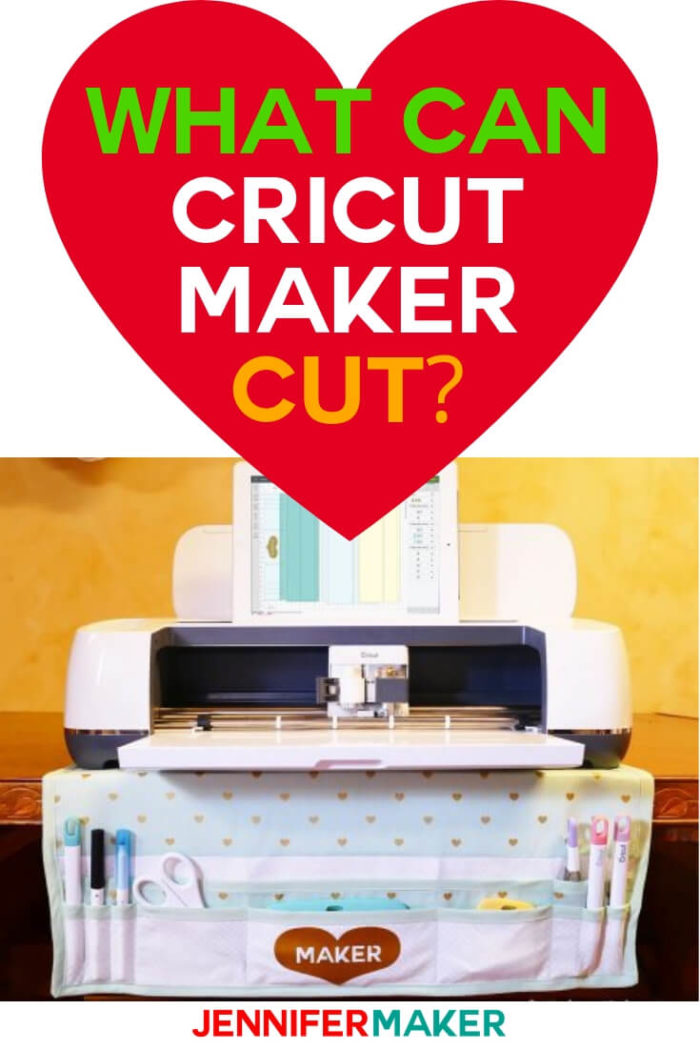The types Cricut Maker materials you can cut are endless. This complete list will tell you everything you need to know from material type to blade needed for proper cutting.  #cricut #cricutmaker #papercrafting #cricutprojects