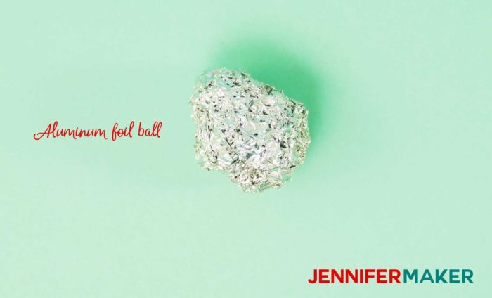An aluminum foil ball is what Cricut accessories you need to get started!