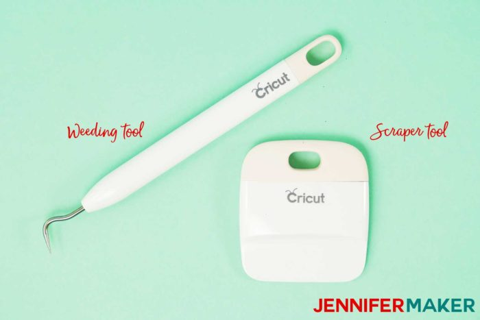 Cricut weeding tool and scaper tool are what Cricut accessories you need to get started!