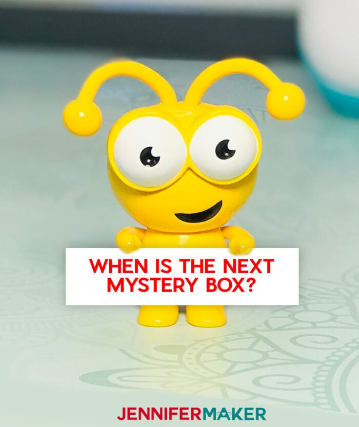 When is the next Cricut Mystery Box? -- says the Sunflower Yellow Cricut Cutie
