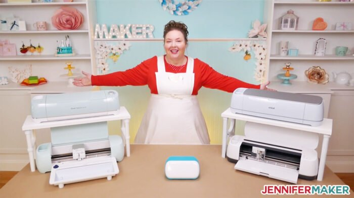 Five Cricut cutting machines compared to help you decide which Cricut to buy -- the Explore, Maker, Joy, Explore 3, or Maker 3