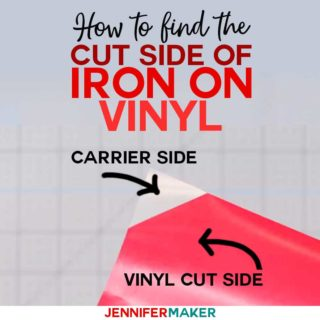 Which side of iron on vinyl do you cut - find out with these tips and tricks!