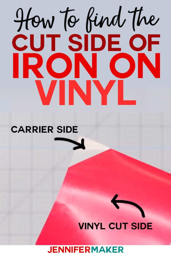 Iron On Vinyl Tips How to Use Iron-On Vinyl and find the cut side of heat transfer vinyl #vinyl #cricut #tips #htv #irononvinyl
